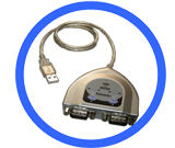 USB to Dual RS232 Adapter